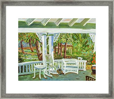 Southern Porches Framed Print