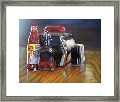 Southern Sauces Framed Print