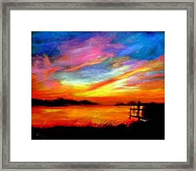 Southern Sunset Framed Print