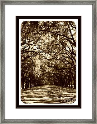 Southern Welcome In Sepia Framed Print
