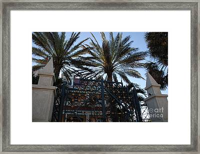 Southernmost Hotel Entrance In Key West Framed Print