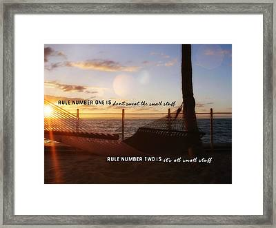 Southernmost Quote Framed Print by JAMART Photography