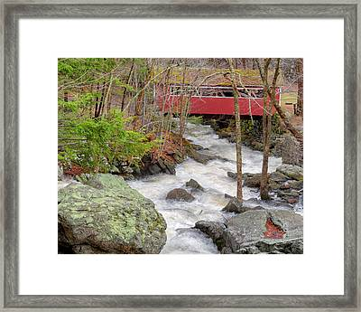 Southford Falls State Park Framed Print by Bill Wakeley