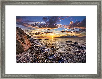 Southold Sunset Framed Print