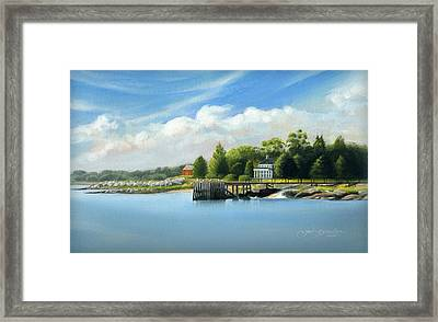 Southport Harbor Framed Print