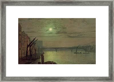 Southwark Bridge Framed Print by John Atkinson Grimshaw