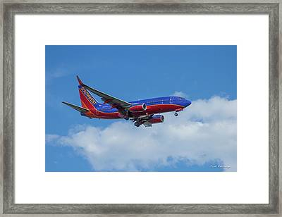 Southwest Airlines Jet N223nw Color Perfect 2 Atlanta Georgia Framed Print