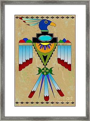 Southwest Bird Symbol Framed Print by Tim Hightower