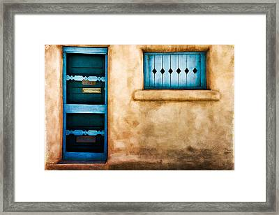 Southwest Blues Framed Print by Lana Trussell