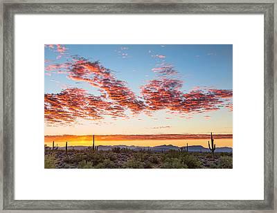 Southwest Desert Colorful Sky Framed Print