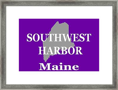 Framed Print featuring the photograph Southwest Harbor Maine State City And Town Pride  by Keith Webber Jr