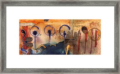 Southwest Holiday - Completed Framed Print by Angela L Walker