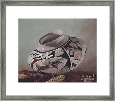 Southwest Indian Pot Framed Print