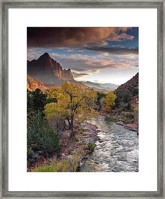 Southwest Light Along The Virgin River Framed Print by Leland D Howard