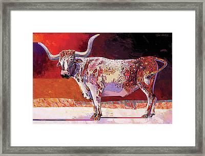 Southwest Longhorn Framed Print by Bob Coonts