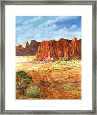 Southwest Red Rock Ranch Framed Print
