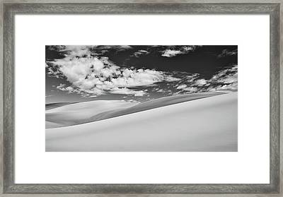 Southwest Sands Of Colorado In Black And White Framed Print