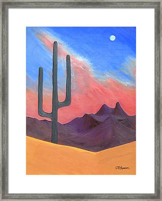 Southwest Scene Framed Print by J R Seymour