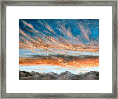 Southwest Sunset Framed Print by Merle Blair