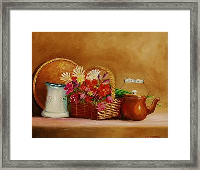 Framed Print featuring the painting Southwest Table by Gene Gregory
