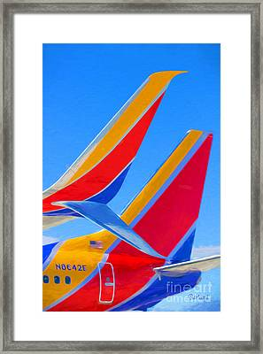 Southwest Tails Framed Print by Garland Johnson