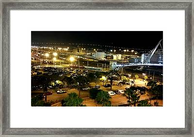 Southwest View Petco Park Framed Print by Eileen Swanson