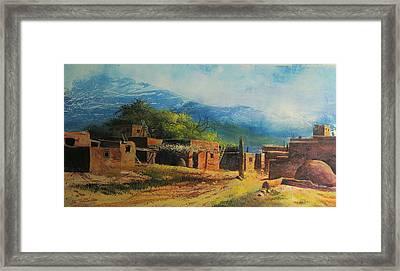 Southwest Village Framed Print by Robert Carver