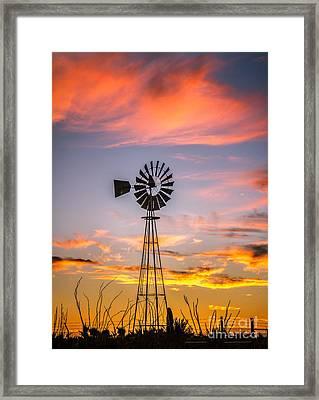 Southwest Windmill Framed Print by Robert Bales