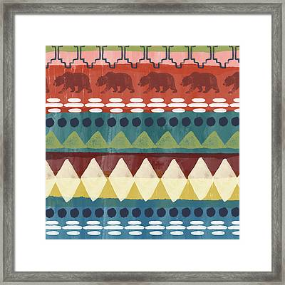 Southwest With Bears- Art By Linda Woods Framed Print