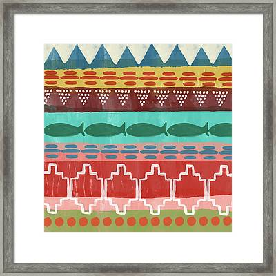 Southwest With Fish- Art By Linda Woods Framed Print
