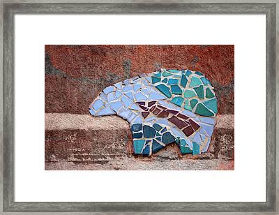 Southwestern Bear Mosaic Framed Print by Carol Leigh