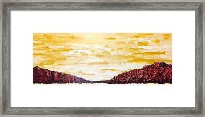 Southwestern Mountain Range Framed Print