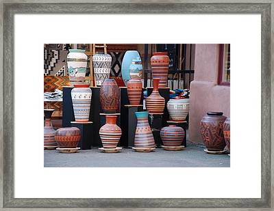 Framed Print featuring the photograph Southwestern Potery by Rob Hans