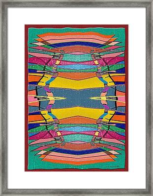 Southwestern Rug Framed Print by Jerry White