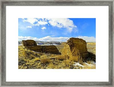 Southwestern Ruins Framed Print by Jeff Swan