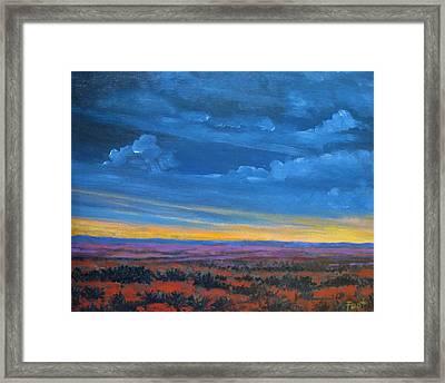 Southwestern Sunset Framed Print by Gene Foust