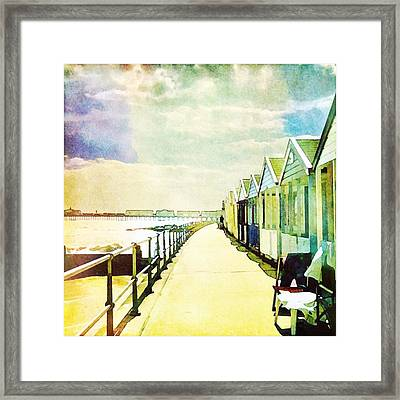 Framed Print featuring the photograph Southwold Beach Huts by Anne Kotan