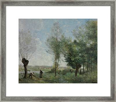 Souvenir Of Coubron Framed Print by Jean-Baptiste-Camille Corot