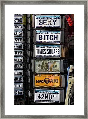 Souvenire License Plates Framed Print by Robert Ullmann