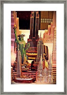 Souvenirs New York City                         Framed Print by Sarah Loft