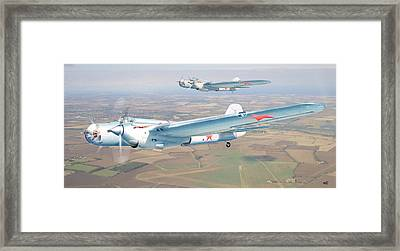 Soviet Bomber Ar-2 Of The Fortieth Years In Formation Flying Framed Print by Alex Arkhipau