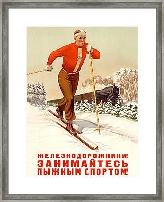Soviet Propaganda Poster Framed Print