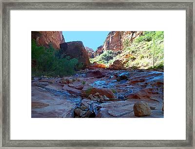Sowats Creek Kanab Wilderness Grand Canyon National Park Framed Print