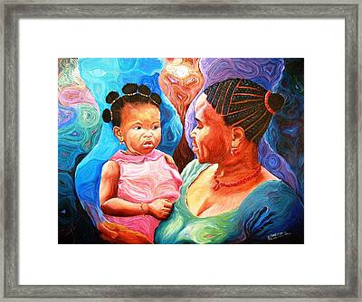 Sowing And Reaping Framed Print by Bankole Abe