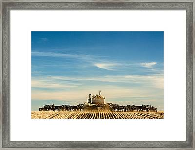 Sowing From Behind Framed Print