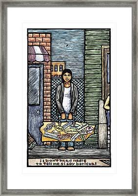 Soy Boricua Framed Print by Ricardo Levins Morales