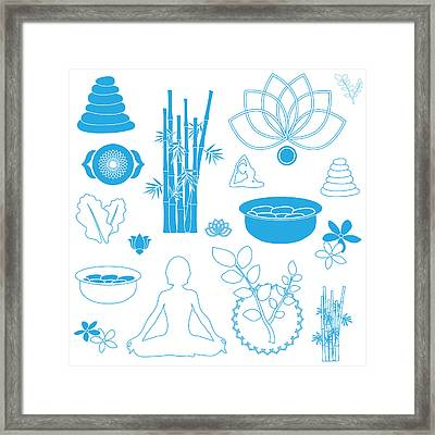 Spa And Healing Massage Art Framed Print by Serena King