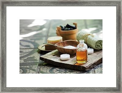 Spa And Wellness Still Life Framed Print by Jelena Jovanovic