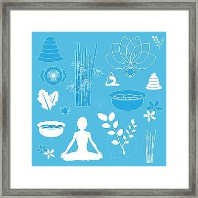 Spa Background Framed Print by Serena King