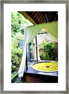 Spa Bath Tub 1 Framed Print by Lanjee Chee